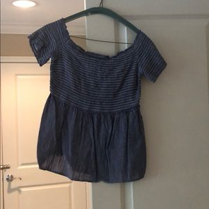 Old Navy Smocked Off Shoulder Top Size Small